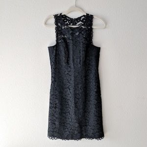 Shoshanna Black Lace Cocktail Dress
